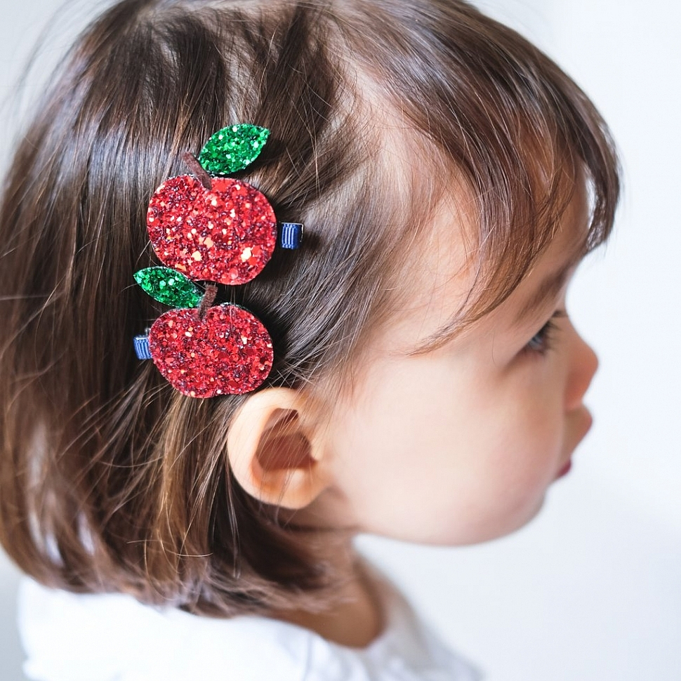 mimi and lula glitter apple clips 1