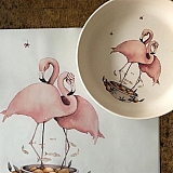 konges slojd placemat flamingo a