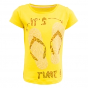 t-shirt Camille flip flop time yellow