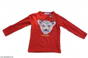 t-shirt lange mouw Cheetah rust