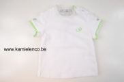 T-shirt Strass white green
